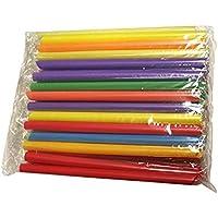 Sungpunet - Lot de 50 pailles jetables colorées pour bubble tea au tapioca et autres boissons