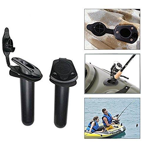 Flush Mount Angelrute Halter-Coco 2Pcs Kunststoff Box Boot Kajak Kanu Deck Halterung Angeln ploe Rack mit GAP Cover Schraube im Lieferumfang enthalten -