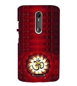 iFasho Modern Art Om design pattern Back Case Cover for Motorola MOTO X3