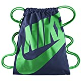 Nike Unisex-Erwachsene NK Heritage GMSK Turnbeutel, Loyal Blau/Glück Grün, One Size, BA5128-421