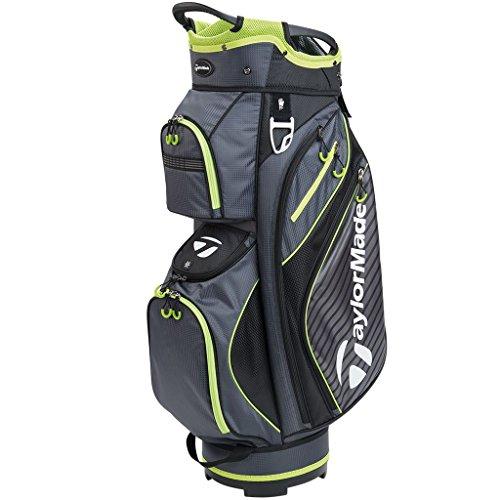 TaylorMade Golf 2018 Pro Cart 6.0 Cart Bag Mens Trolley Bag 14 Way Divider Charcoal/Black/Green