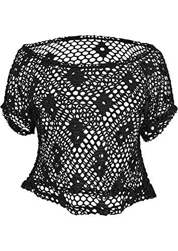 Urban Classics SHORT - Top da donna in maglia a rete, colore: giallo schwarz