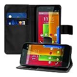 kwmobile Funda para Motorola Moto G (2013) - Wallet Case plegable de cuero sintético - Cover con...