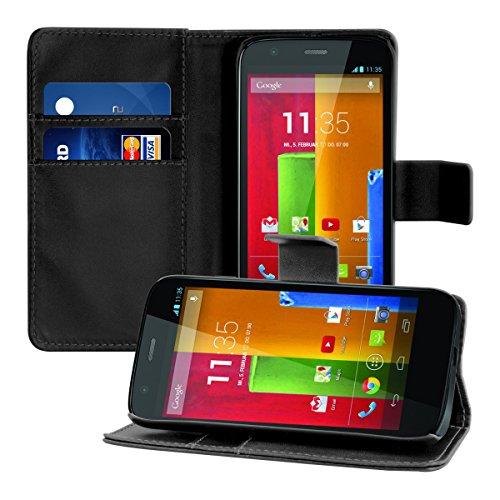 kwmobile Funda para Motorola Moto G (2013) - Wallet Case Plegable de...