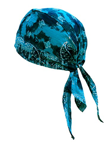 memego memego Bandana Cap Kopftuch Paisley Blue Shadow
