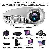 NWHEBET Proiettore WiFi 1080P Full HD Wireless Mini Multimedia portatile, compatibile con HDMI VGA USB AV, proiettore LCD Heimkino a breve distanza. 23*22*6cm