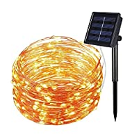 Solar String Lights Copper Wire 200led 22m Starry String Lights,High Quality Bendable Copper Ambiance Lighting for Outdoor,Garden,Homes,Wedding,Christmas Party,Holiday Decoration(Warm White) 15