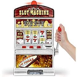 GreatGadgets 1890 Casino Machine à sous 38 cm argent