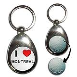 I Love Montreal - Une balle de golf porte-clés marqueur
