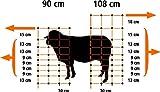 grüner mobiler Elektrozaun Weidezaun 108cm hoch bis 50m lang Zaun-Netz inkl. 14 Pfähle Hundezaun Gartenzaun Schafnetz Schafzaun flexibel Universal Hunde Garten Auslauf Gehege