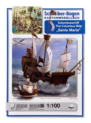 Aue Verlag 32x 13x 32cm Die Columbus Schiff Santa Maria Model Kit