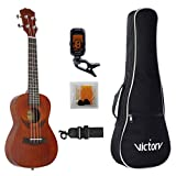 Concert ukulele 23 Inch Mahogany and Aquila Strings with Beginner Kit: Bag +