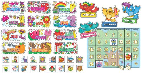 Seasonal Calendar Bulletin Board