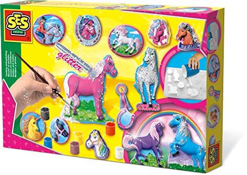 SES 01155 - Pferde gießen und anmalen (Pferd Spielzeug Für Pferde)