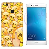 Hülle G9 Case Huawei G9 Whatsapp Emoticon Fuck Smiley/Cover Druck Auch an Den Seiten/Anti-Rutsch Anti-Rutsch Anti-Scratch Schock-resistenten Schutz Schutzulle Starre