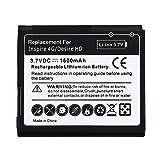 HUANGMENG Batterie exquise pour téléphone Portable Batterie pour HTC Desire HD...