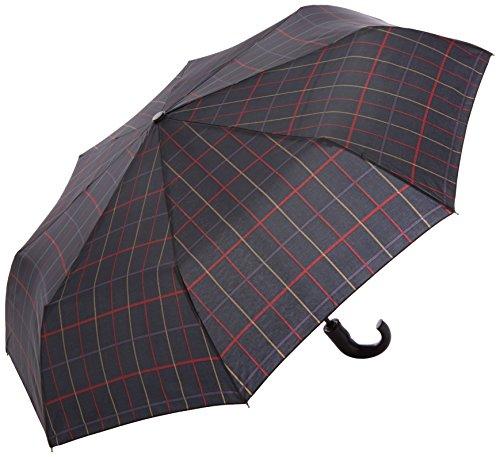 Perletti perletti2593954x 8cm Gent Mini 3Abschnitten kariert gebogenen Griff Design Winddicht Regenschirm