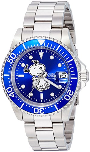 Invicta 24783 Character - Snoopy Montre Unisex acier inoxydable Automatique Cadran bleu