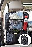 TECAROO 2er-Set Rücksitz Organizer / Rücksitztasche in schwarz mit 2 Jahren Zufriedenheitsgarantie - Auto Rücksitzschoner / Rücksitz-Organizer / Rückenlehnenschutz / Autositzschoner / Auto-Organizer / Auto Organizer / Sitztasche / Sitzlehnentasche / Auto-Sitztasche