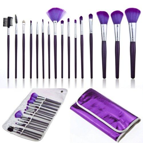 16-teiliges professionelles Kosmetik- / Schminkpinsel-Set, für DIY, Violett, inklusive...