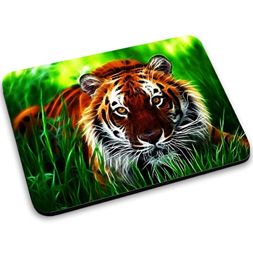 Lebendige 10016, Tiger, Mousepad Anti Rutsch Unterseite für Optimalen Halt Kompatibel mit allen Maustypen (Kugel, Optisch, Laser) Ideal für Gamer und für Grafikdesigner. (Andrews Elektronik)