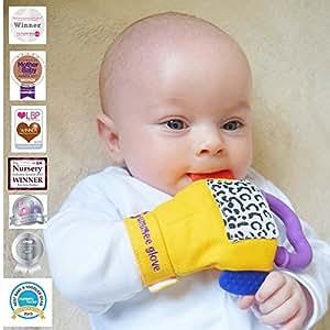 Jouet bebe: anneau de dentition bébé / Mitaine de dentition - Anneau dentition fait pour les dents de votre bébé, soulage et apaise les dents de votre bébé - A partir de 3 Mois