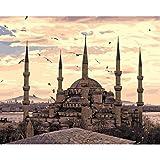WACYDSD Puzzle 1000 Teile 3D Puzzle Türkei-Sultanahmet-Moscheenlandschaft Für Wohnzimmerwand