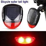rokoo solare LED bicicletta luce sicurezza notte Bicicletta Illuminazione Lampada tascabile Bicicletta Lampada Retroilluminazione Taillight