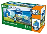 BRIO World 33918 Smart Tech Eisenbahn-Werkstatt - Lok-Werkstatt & Action-Tunnel mit Sound-Effekten -...
