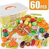 JoyGrow 60 Piezas Alimentos de Juguete Cortar Frutas Verduras Temprano...