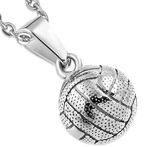hänger Edelstahl Silber (Beach Net Pendant Kettenanhänger Amulett Medaillon Charm Beads Chirurgenstahl Damen Herren Schmuck) ()