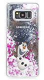 Phone Kandy Hart Transparent Shell Glitter Stars Sparkle Telefon-Kasten mit Karikatur Hülle Abdeckung Haut tascen (iPhone X, Olaf)