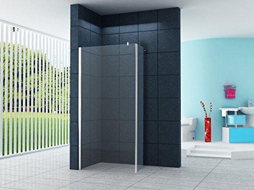 duschwand ecke 28x200cm Anbau-Ecke für Duschwände von 10mm / Walk-In Duschtrennwand Duschabtrennung Duschwand Dusche