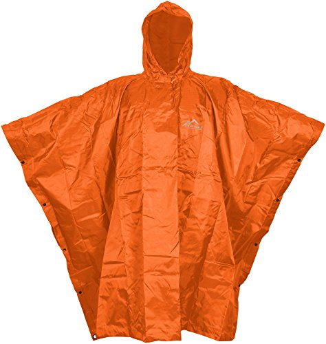US Poncho Rip Stop Regenponcho in 8 Farben Farbe Orange