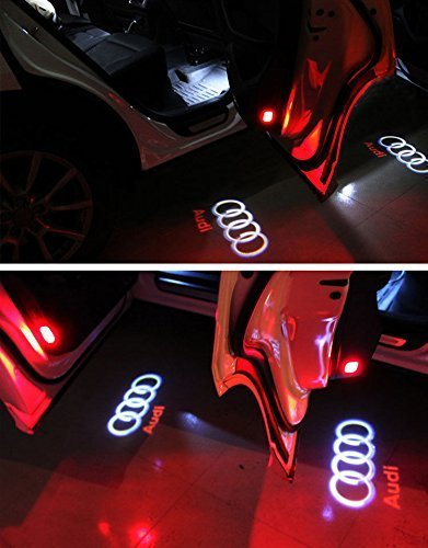 HConce Auto Tür Dekorative Eintrag Logo Projektor Lichter für A5 A6 A4L A8 A6L A4 A1 A3 R8 Q5 Q7 TT A8L A7 A6L Auto LED Projektor Willkommen Licht 4 Stück