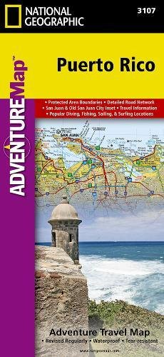 Puerto Rico: Travel Maps International Adventure Map