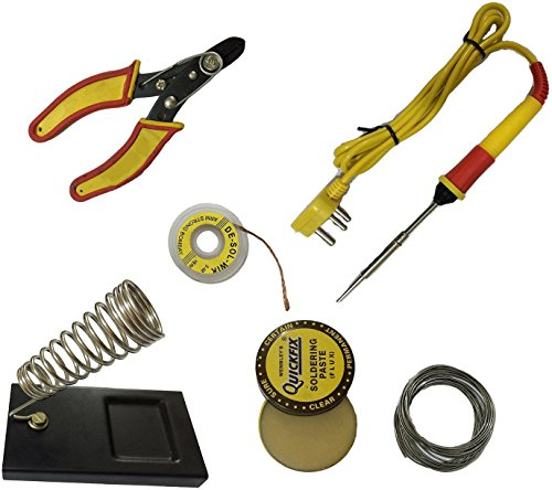 SHOPEE BRANDED 6 in1 Electric Soldering Iron Stand Tool Wire Stripper starter tool Kit 25 Watt  available at amazon for Rs.299