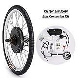 CO-Z 36V 500W 26'' Kit di Conversione Bici Elettrica Controllo Mozzo Motore Hub E-Bike Ruota Bicicletta Regolatore di velocità (Ruota Posteriore)