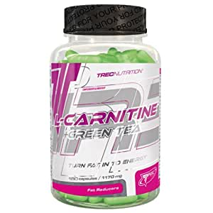 Trec Nutrition - L-Carnitine + Green Tea - Turn Fat In To Energy - Best & Strong Ever - For A Lean Body (90 Caps / 22 Portions)