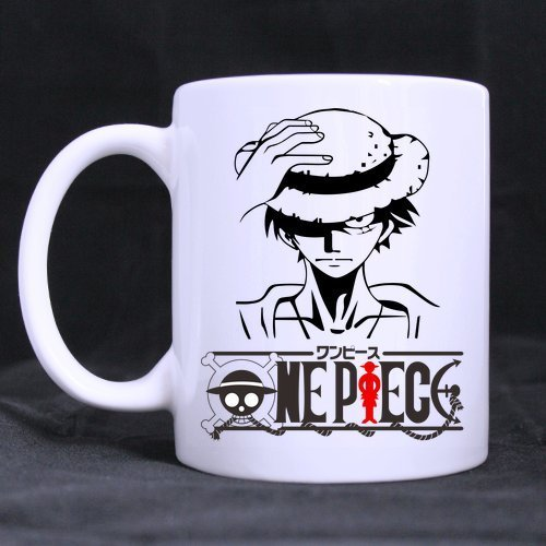 LUOBOGAN Japan Anime Cartoon One Piece Monkey D Luffy Painting Custom Morphing Coffee Mug Tea Cup 11 OZ Office Home Cup (Printed on Two Sides)
