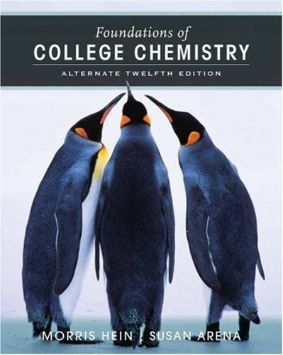 Foundations of College Chemistry by Morris Hein (2006-11-03)