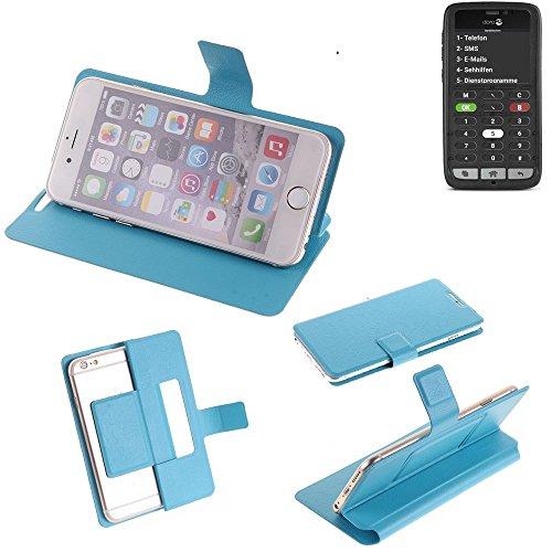 K-S-Trade Flipcover für Doro 8031C Schutz Hülle Schutzhülle Flip Cover Handy case Smartphone Handyhülle blau