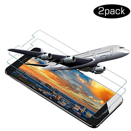 Schutzfolie für Huawei Honor 6X, [2 Stück] Wsiiroon Panzerglas, Hochwertige 3D Touch und 9H Härte Displayschutzfolie mit Ultra-Clear 033mm 2.5D Kanten für Huawei Honor 6X