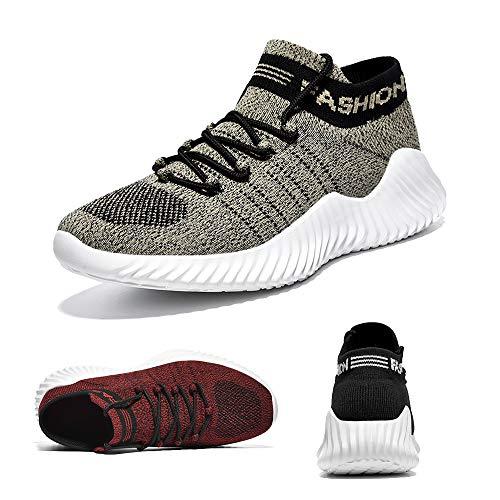 Uomo Scarpe da Corsa Scarpe da Ginnastica Scarpe Comode per Camminare Jogging Sneakers Grey 39