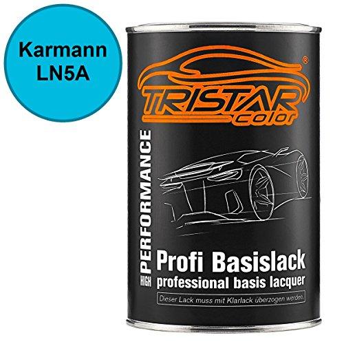 Preisvergleich Produktbild Autolack Set Dose spritzfertig Karmann LN5A Hellblau / Kuehne&Nagel-Hellblau Basislack 1, 0 Liter 1000ml