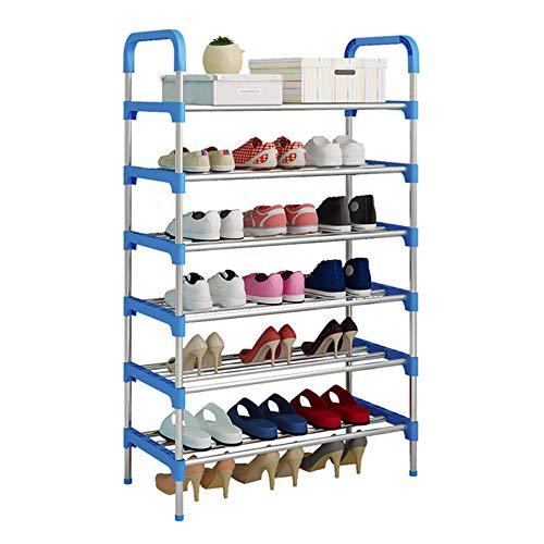 UDEAR Shoe Rack Organizador de Almacenamiento de Zapatos de 6 Niveles, Azul 56 * 30 * 110 CM