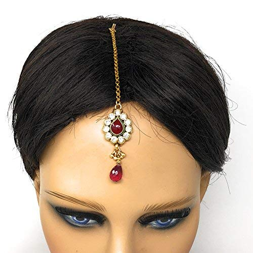 Jewelry Indian Pakistani Ethnic Bollywood Gold Plated Round Maatha