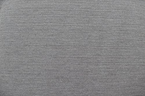 Weiße Gartenbank mit einer grauer Auflage Dreisitzer 158 x 61 x 89 cm - 5