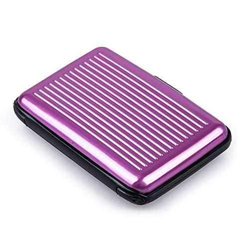 Esta cartera es para hombres y mujeres. Tiene una funda exterior ultra elegante con un soporte para tarjetas con diseño de acordeón en el interior. Está hecho de una aleación de aluminio ligero que es resistente al agua y a los robos de ID (protege c...