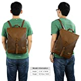 Koolertron Synthetic Leather School Laptop Backpack Satchel Bags Laptop Bag School Rucksack Casual Daypack